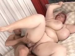 Guy fucks huge milf with giant tits bbw porn