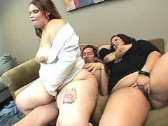 Fat whores jump on dick by turns bbw porn