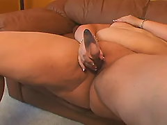 Nourished mommy plays with vibrator bbw porn