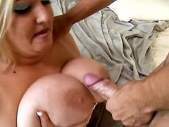 BBW fucks and gets cumload on boobs bbw porn