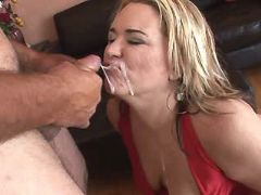 Fat blonde mature gets cum on face bbw porn