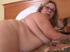 Chubby granny seduces man in bed bbw porn