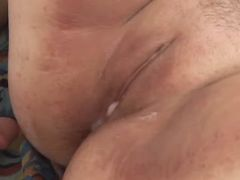 Chubby whore gets fuck and creampie bbw porn