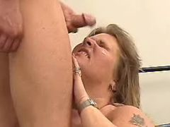 Obese lady gets hot cum in mouth bbw porn